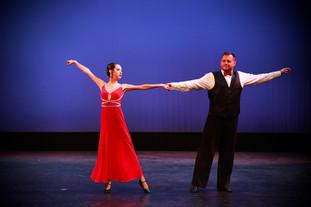 Alejandra and Wojciech performing at the Spring showcase