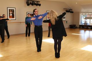 Olga and Dima teaching a workshop