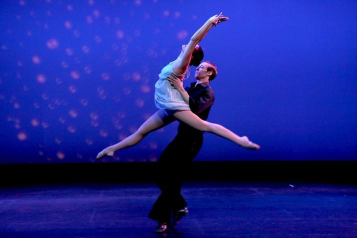 Joe and Lisa performing at the Spring showcase