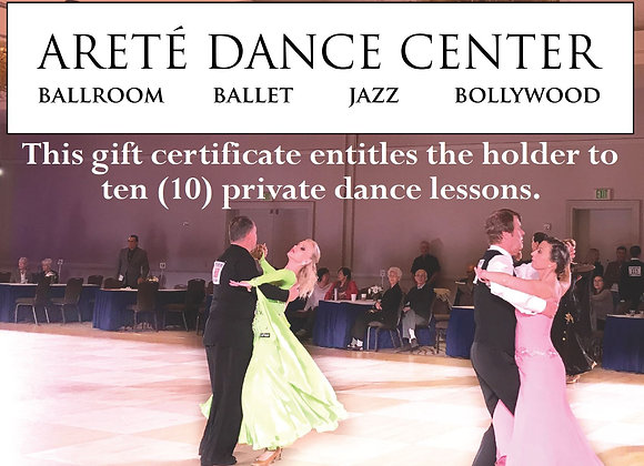 Gift Certificate: 10 Private Lessons