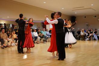 A ballroom round at Dancebration