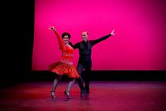 Yana and Mark dance samba at the spring showcase