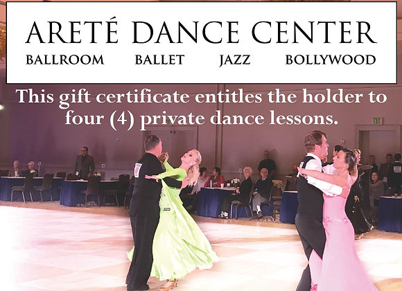 Gift Certificate: 4 Private Lessons