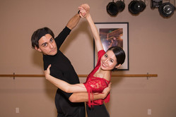 Oscar and Chrystal dancing
