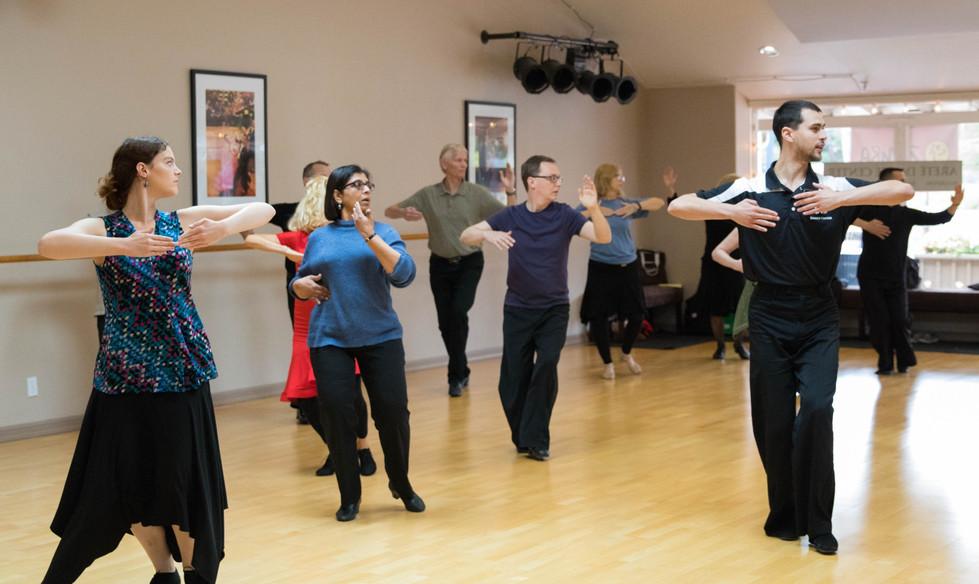 Yuriy teaching a group technique class