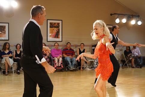 Carolyn and John dancing on Dancebration Day