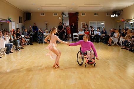 Derek and Giselle perform their showcase at Dancebration