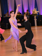 Yuriy and Sarah dancing at the City Lights Open competition
