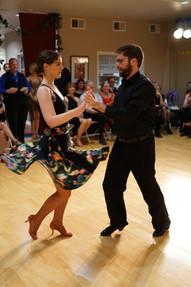 Sarah and Ben dance samba at Dancebration