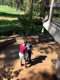 Yuriy teaching Sarah outdoors in Oregon