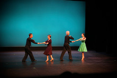Quartet Gustav, Diane, Detlef, and Alejandra dancing at the Spring showcase
