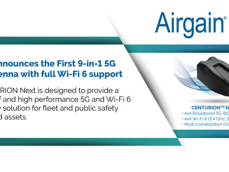 Airgain Announces the9-in-1 5G Fleet Antenna with Full Wi-Fi 6 Support