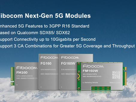 Fibocom Announces Multiple Next-Gen 5G NR Modules to 3GPP R16 Standard