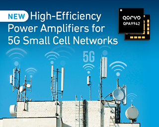 Qorvo Introduces Family of High-Efficiency Power Amplifiers for 5G Small Cell Networks