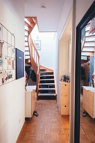 Treppe und Flur Leipzig, Flur vorher