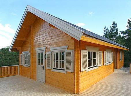 Log cabins or block built homes?