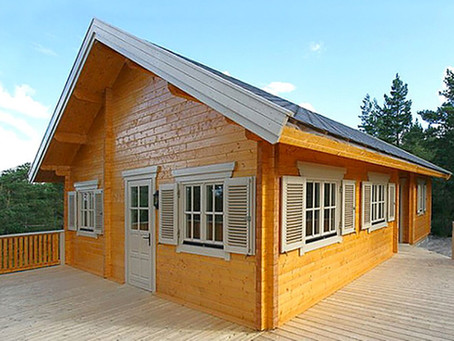 Log cabins or block built homes?