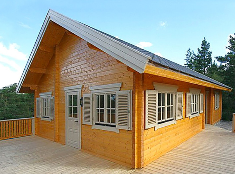 A log cabin beats a block-built home any day!
