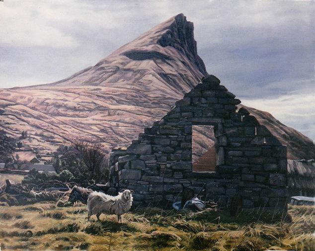 'Ben Wiskin Gable' oil on canvas 28''x36