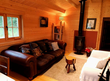 How efficient are log cabins to heat?