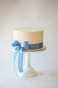 elegant blue bow
