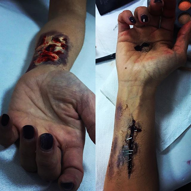 Beautiful job 🔪 #film #filmproduction #nyproducers #producers #movies #specialeffectsmakeup #bullet