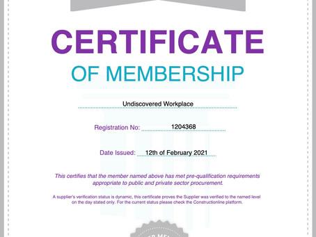 Constructionline Silver Member Certification!