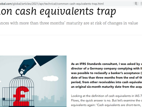 Common cash equivalents trap - Published in ACCA AB magazine - Steve Chen, FCCA