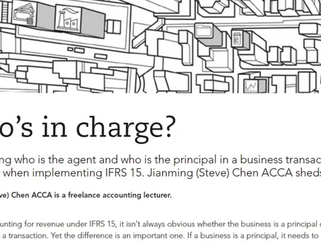 Who's in Charge? - by Steve Chen, FCCA AB Magazine Article (Feb 2020) www.globalapc.com