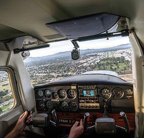 Landing aircraft Van Nuys Airport