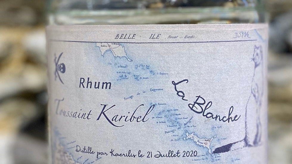 Rhum Blanc La Blanche Hermine, 50 cl, 69% vol.