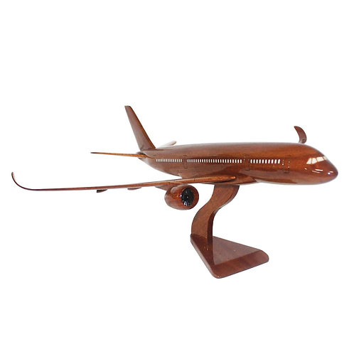 AIRBUS A350 WOODEN MODEL / SMALL