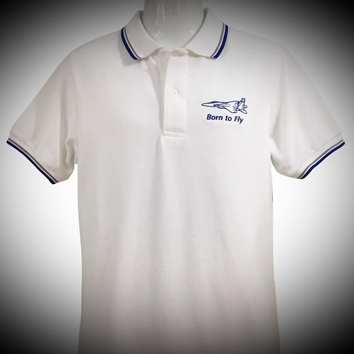 BORN TO FLY POLO white
