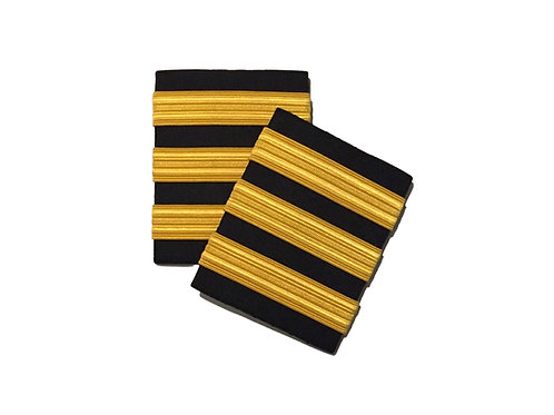 EPAULETS 3 STRIPES - GOLD - HARD
