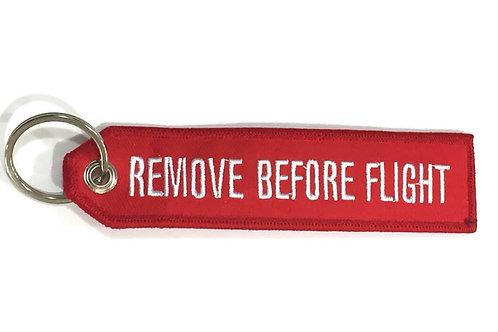 KEYRING REMOVE BEFORE FLIGHT