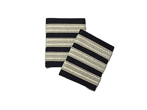 EPAULETS 3 STRIPES - SILVER - SOFT