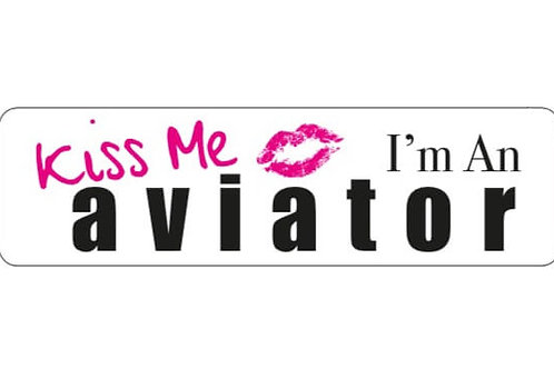 KISS ME AVIATOR PINK STICKER