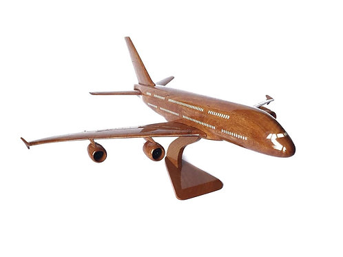 AIRBUS A380 WOODEN MODEL / SMALL