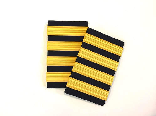 EPAULETS 4 / HARD / BLACK / GOLD STRIPE