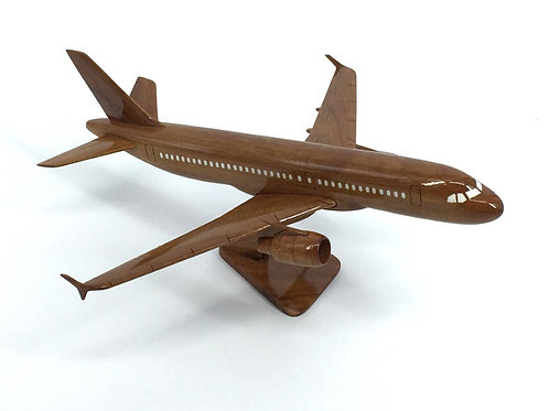 AIRBUS A320 WOODEN MODEL / SMALL
