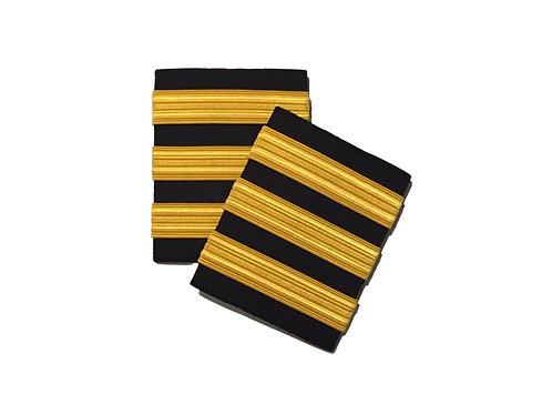 EPAULETS 3 STRIPES / HARD / GOLD