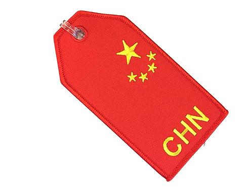 FLAG CHINA BAGTAG