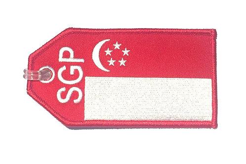 FLAG SINGAPORE BAGTAG