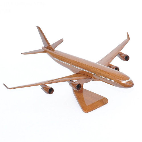 AIRBUS A340 WOODEN MODEL / SMALL