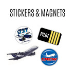 Aviation Stickers and Magnets