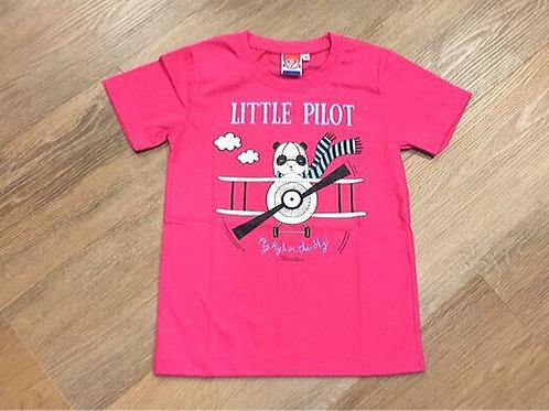 LITTLE PILOT PINK TEE