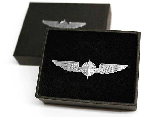 BROOCH WINGS SILVER PLATED