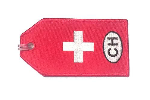 BAGTAG SWITZERLAND FLAG
