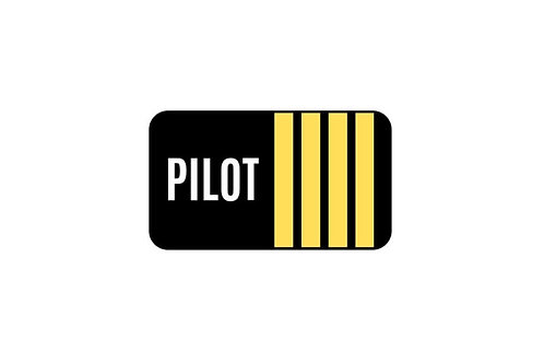 PILOT 4 STICKER