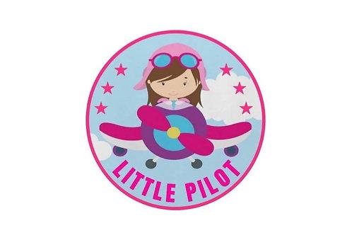 LITTLE PILOT (GIRL) STICKER